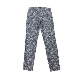 H&M | Navy Blue and White Marbled Pants